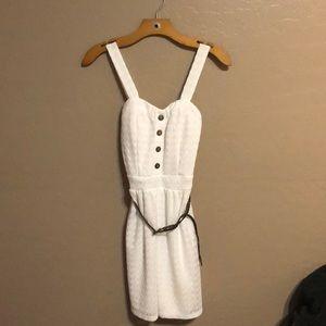 Summer White Button Front Dress